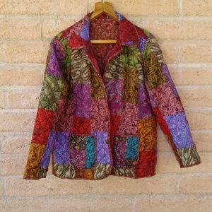 Women's satin reversible  light weight jacket